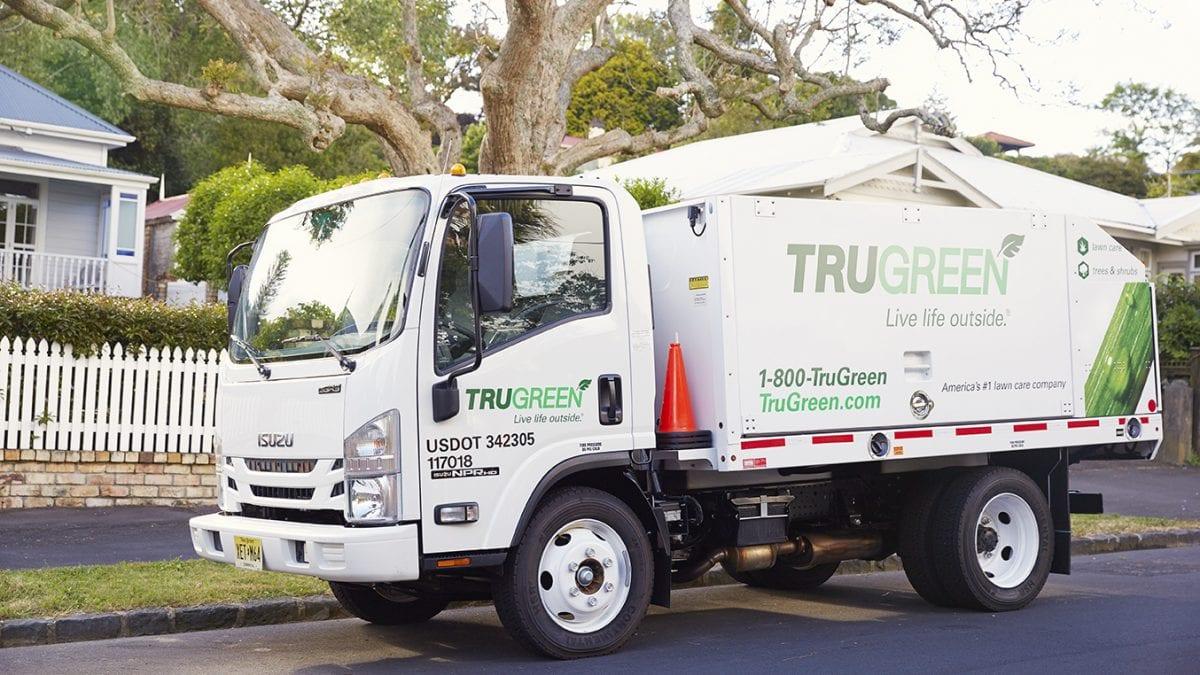 TruGreen work vehicle