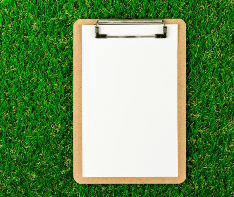 clipboard on grass