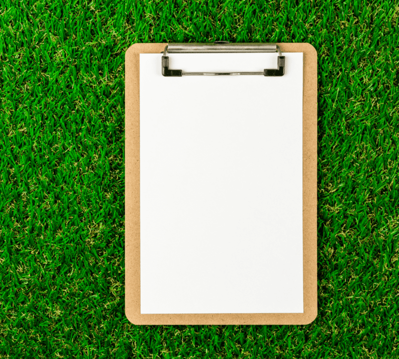 clipboard on grass